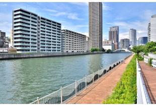 堂島川の景色 500m