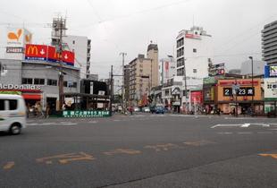 都島本通り交差点 550m