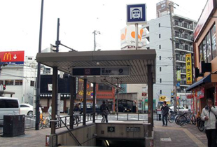 都島駅 800m